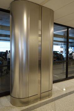 Stainless Steel Column Covers | Pelapisan Tiang Bangunan dengan Stainless | Tiang Kolom Stainless ini banyak ditemui di mall dan digedung-gedung perkantoran