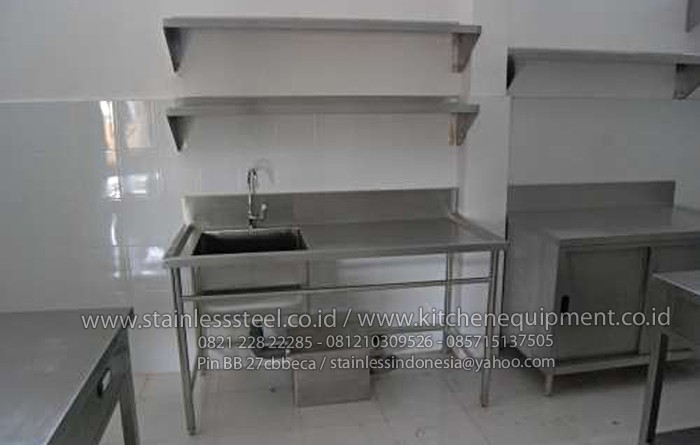 Wastafel Cuci Piring Stainless Harga Kitchen Sink Steel Meja Dapur