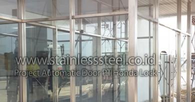 Pintu Otomatis Sliding Door | Kusen Stainless Steel | Frame Stainless Steel | Pintu Otomatis Stainless
